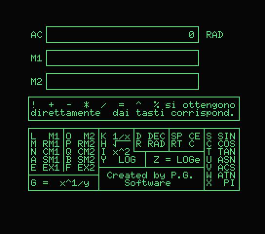 MSX Calc