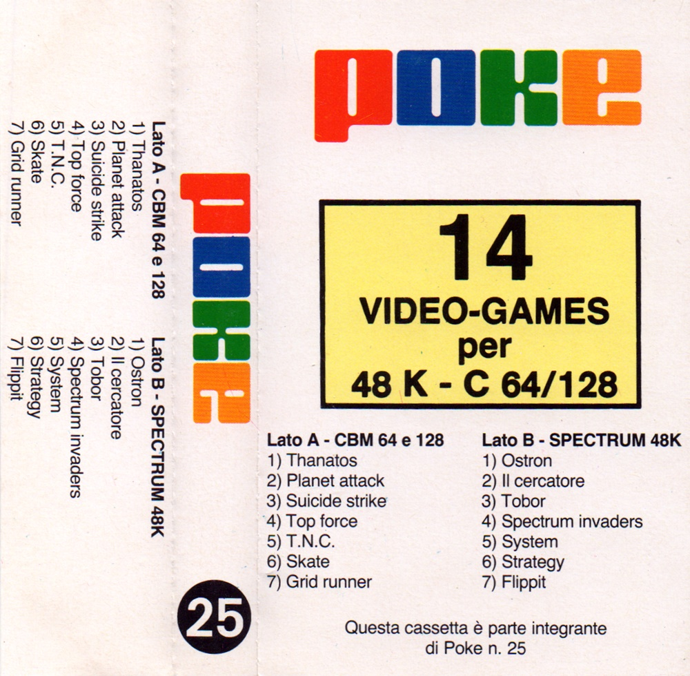 Scansione fogliettino che accompagnava le cassette